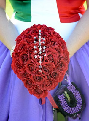 Gemma Spencer's 'Sherrin' football bouquet. Photo: SophistiKated Photography.